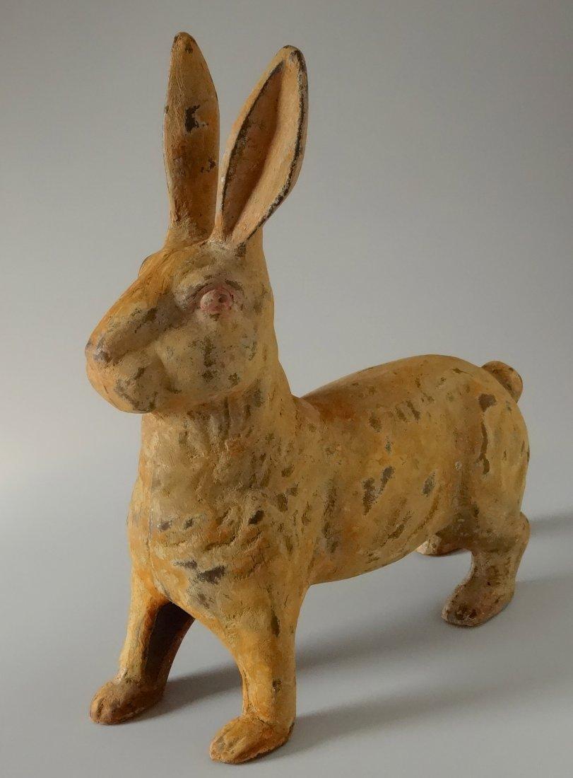 Cast Iron Rabbit Hare Painted Figurine Garden Decor