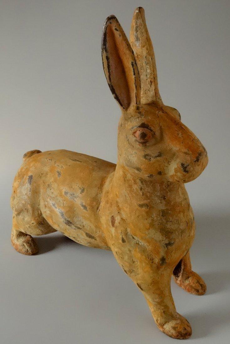 Cast Iron Rabbit Hare Painted Figurine Garden Decor - 4