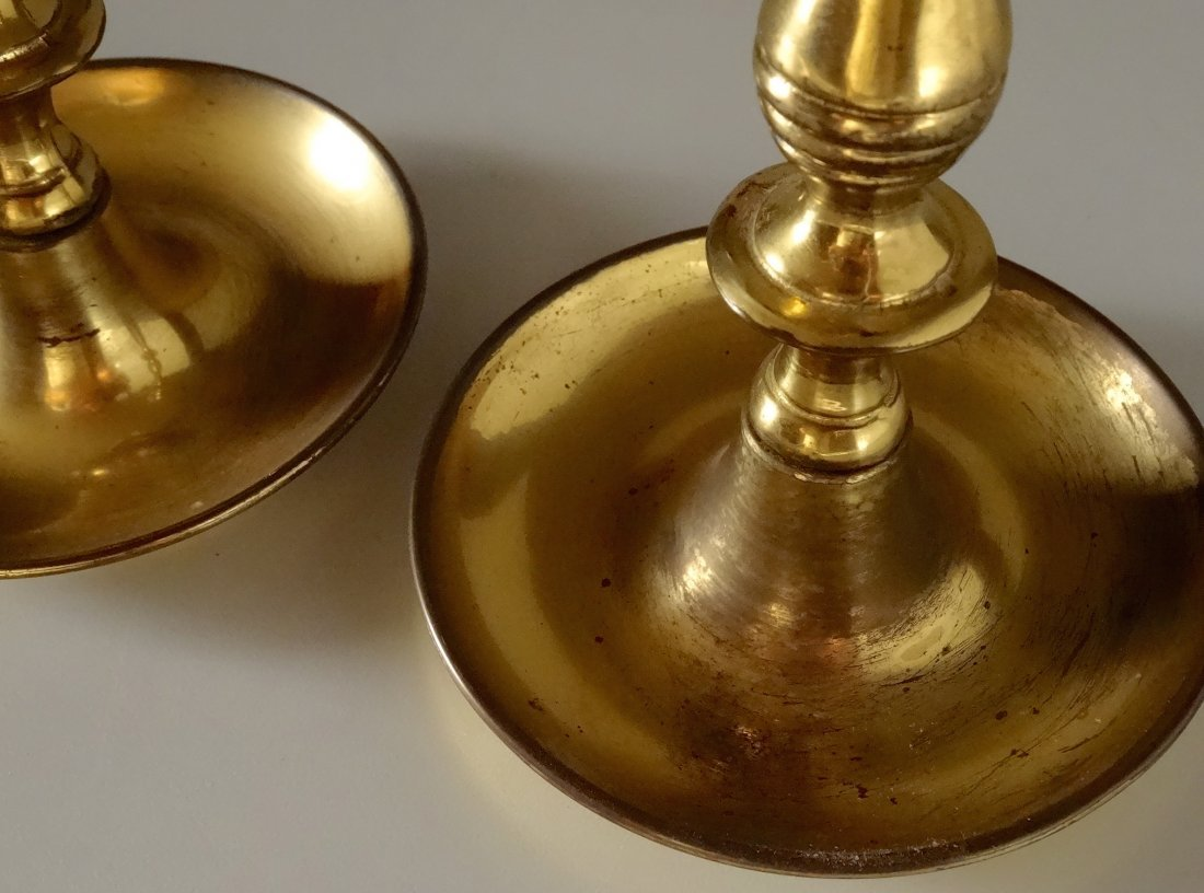 Quality English Brass Candlesticks Candle Holders Pair - 2
