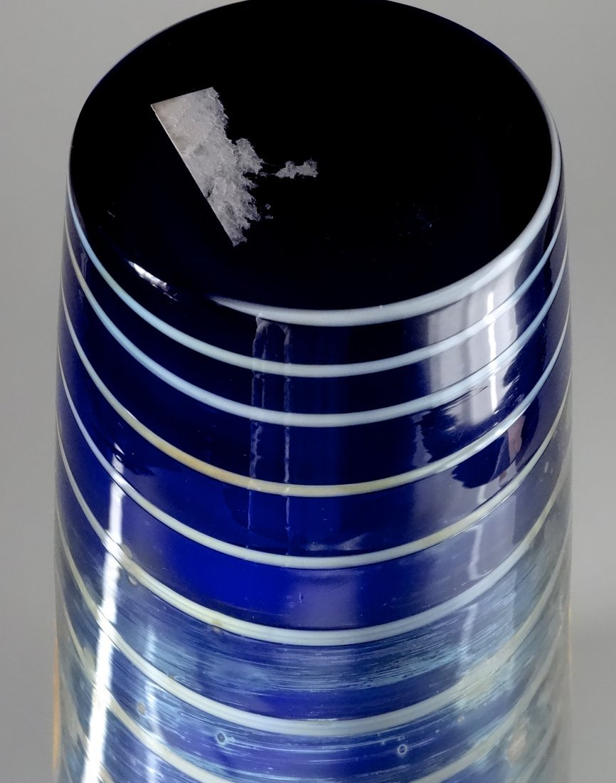 Bohemian Egermann Cased Pulled Glass Vase Art Deco Styl - 5