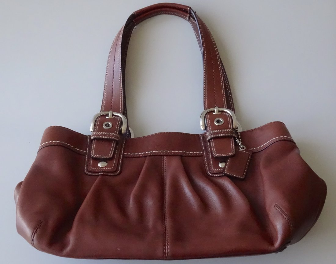 Authentic COACH Brown Leather Bag Purse Never Used