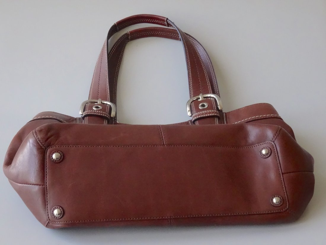 Authentic COACH Brown Leather Bag Purse Never Used - 4