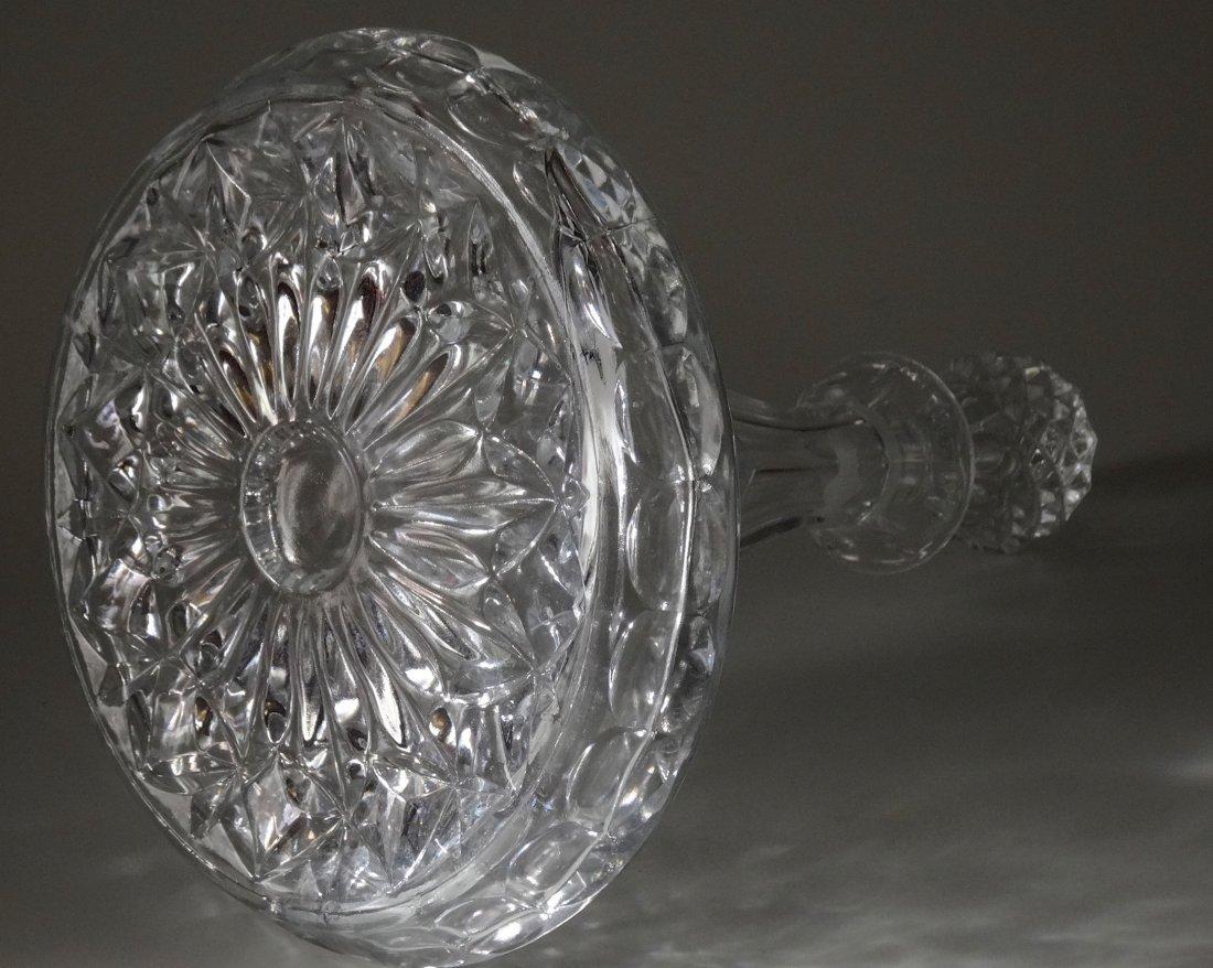 Large Pressed Glass Captain Decanter Bottle - 2