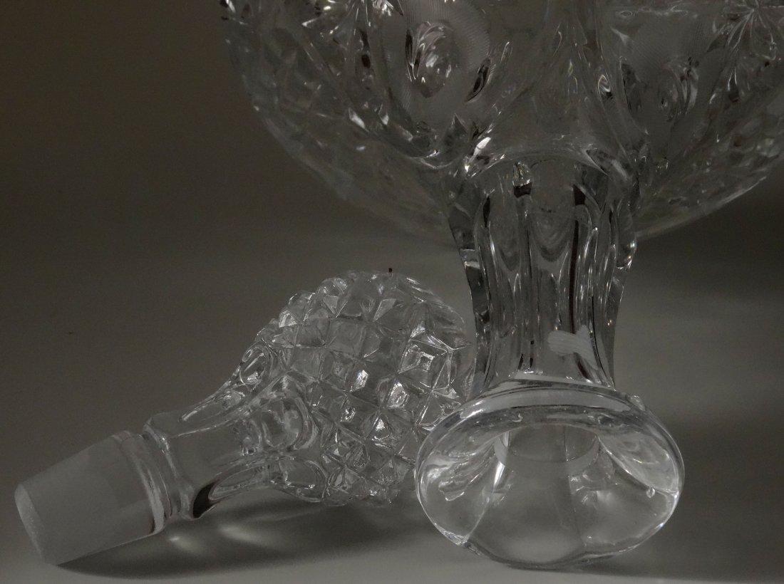 Large Pressed Glass Captain Decanter Bottle - 3