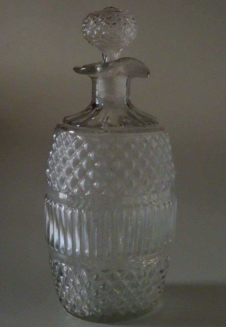 Early American Sandwich Glass Decanter Blown Bottle
