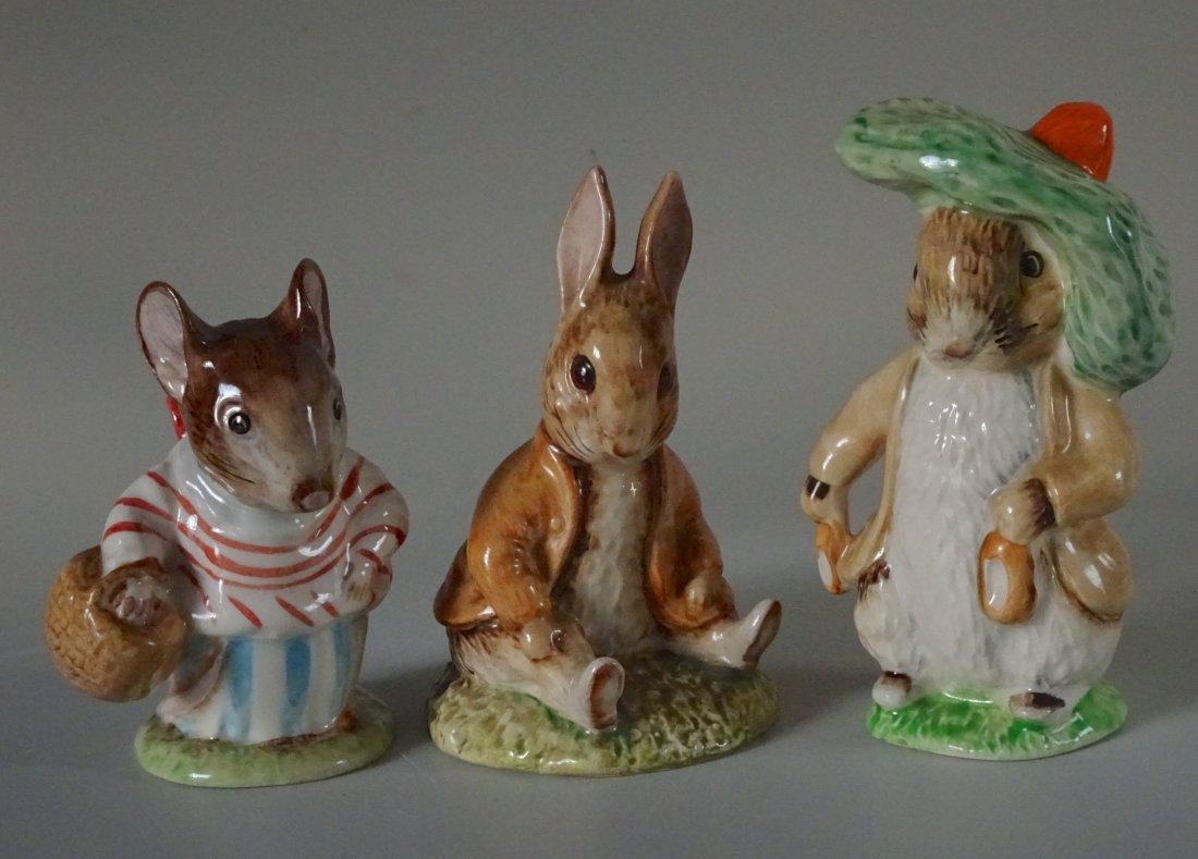 Lot of 3 Beatrix Potter Characters English Beswick