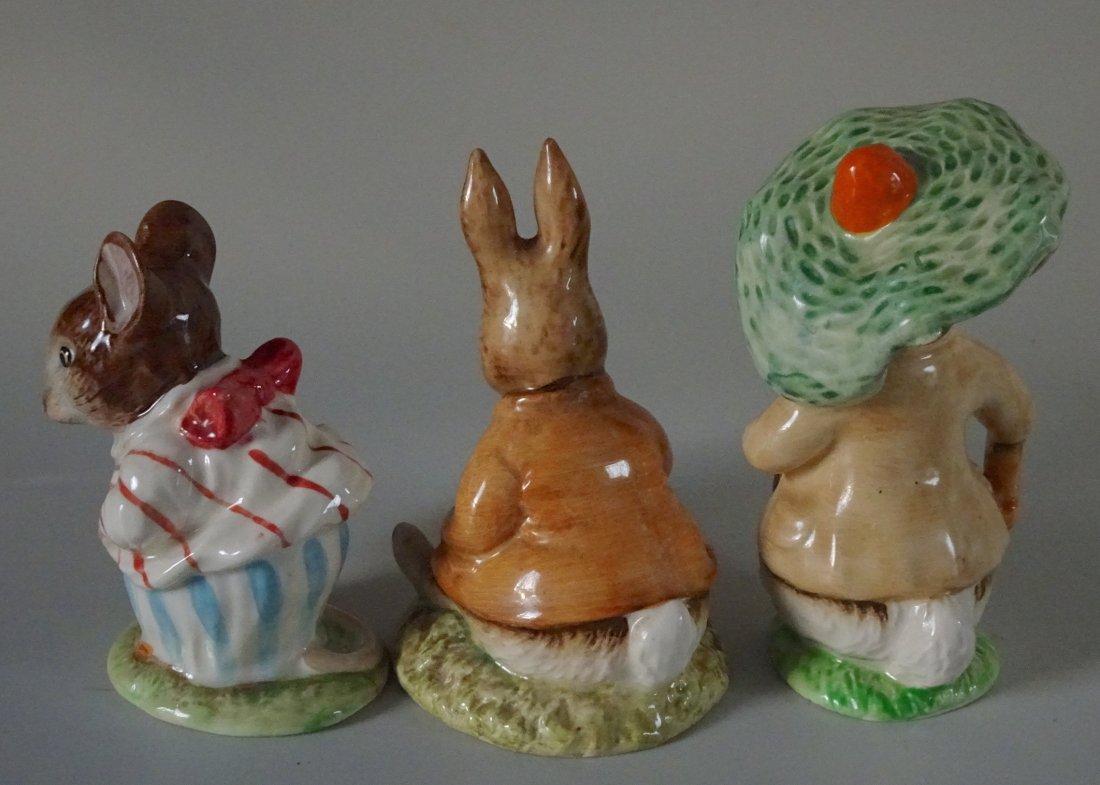 Lot of 3 Beatrix Potter Characters English Beswick - 2
