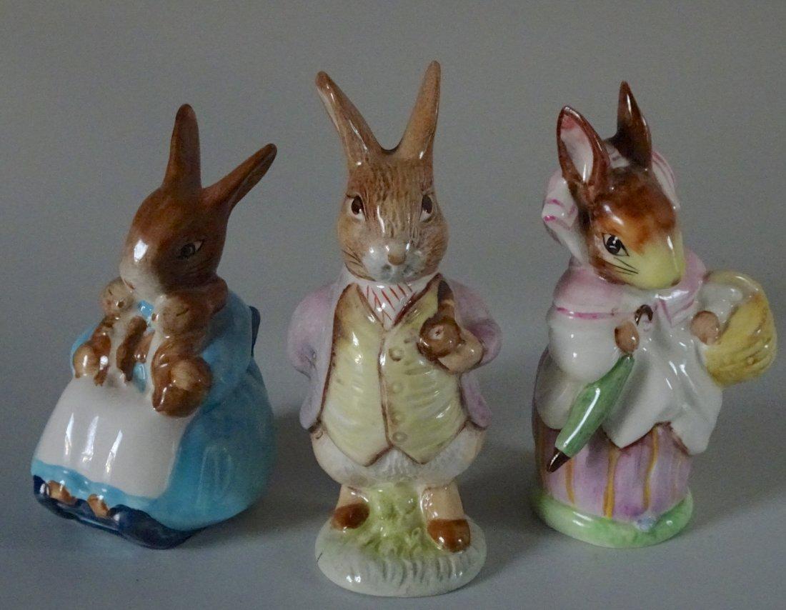 Beswick Figurines Beatrix Potter Rabbit Characters Lot