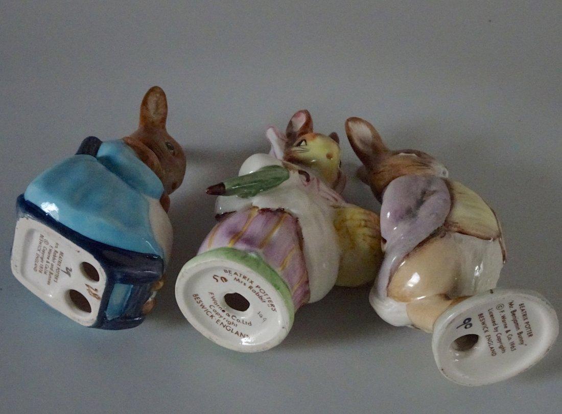 Beswick Figurines Beatrix Potter Rabbit Characters Lot - 4