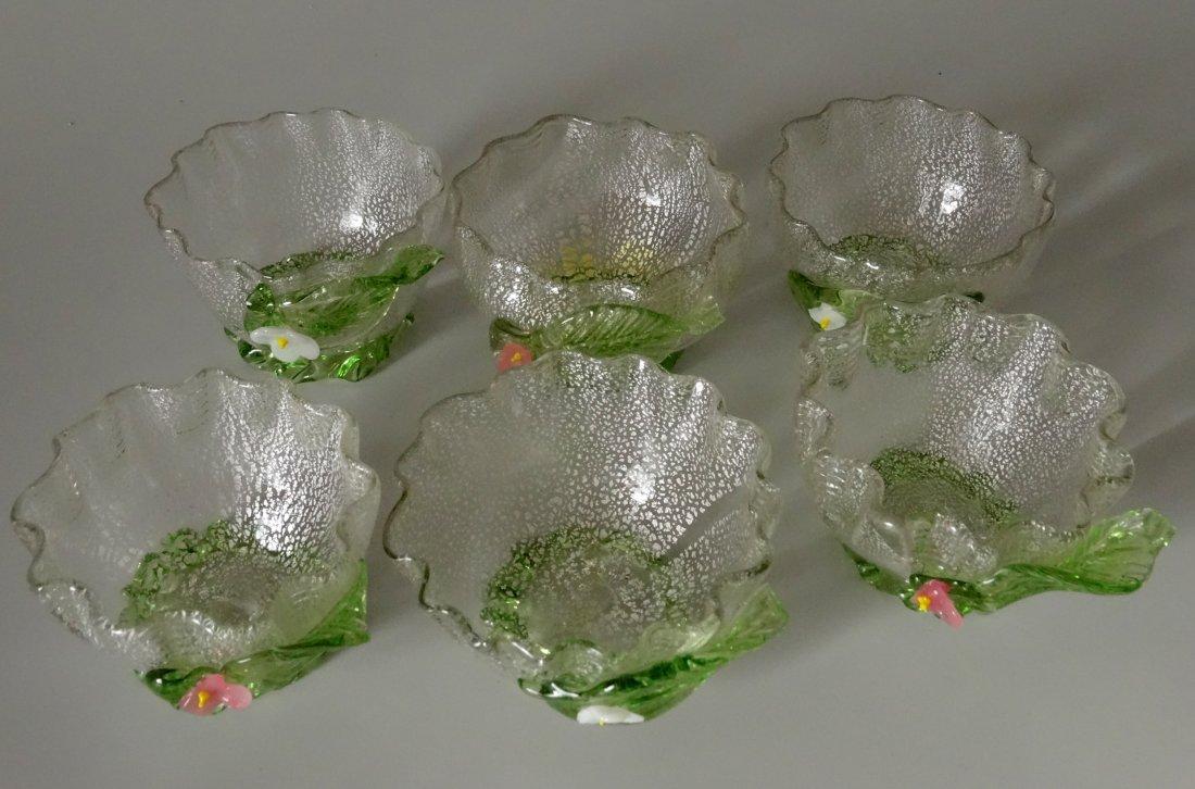 Vintage Murano Art Glass Silver Specks Finger Bowl Lot