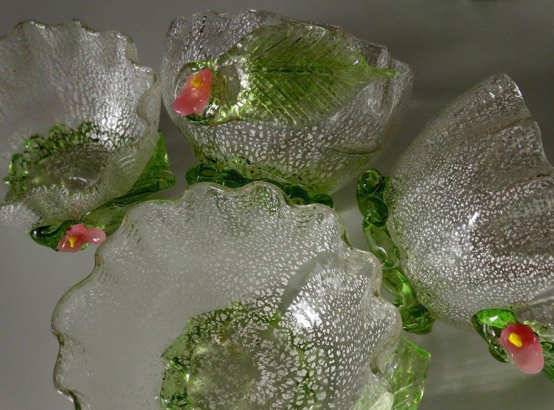 Vintage Murano Art Glass Silver Specks Finger Bowl Lot - 6
