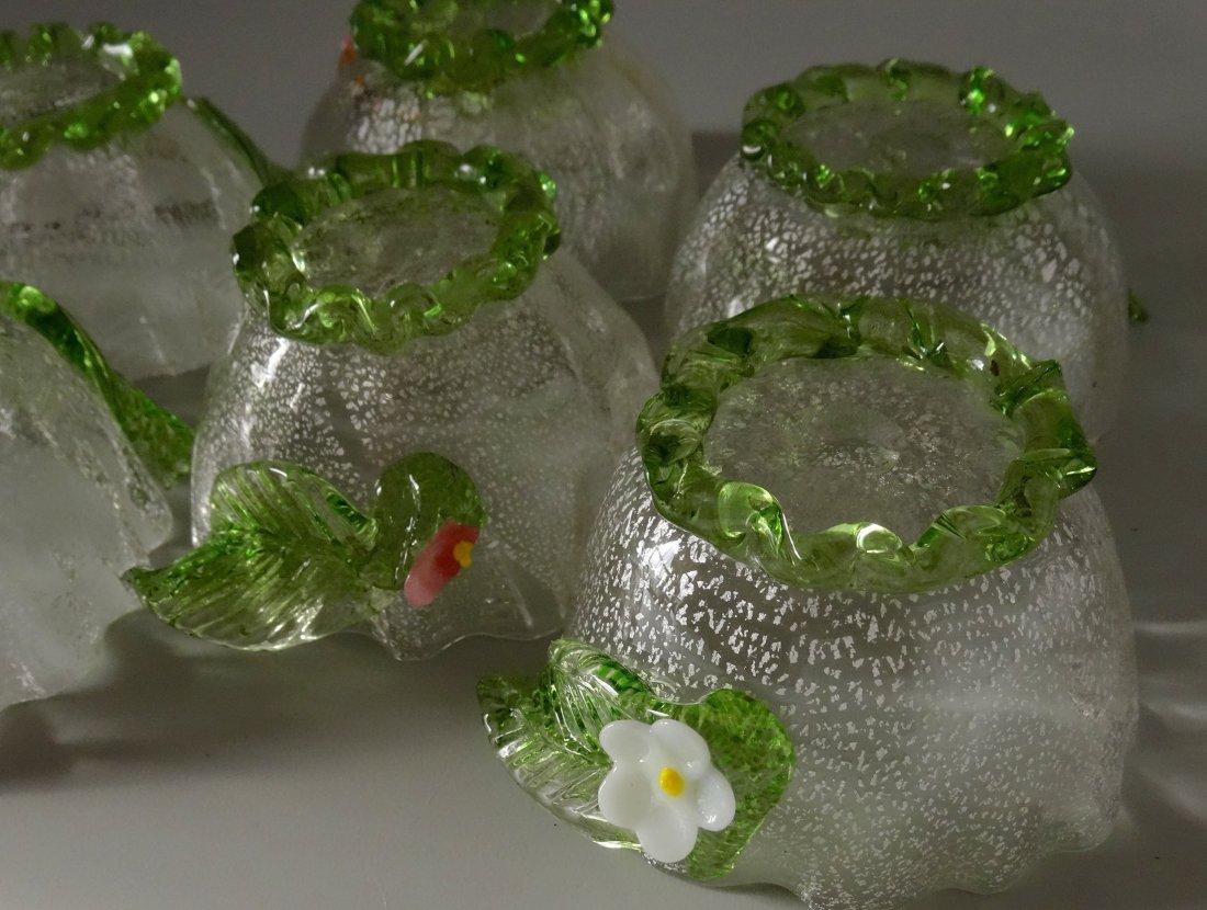 Vintage Murano Art Glass Silver Specks Finger Bowl Lot - 8