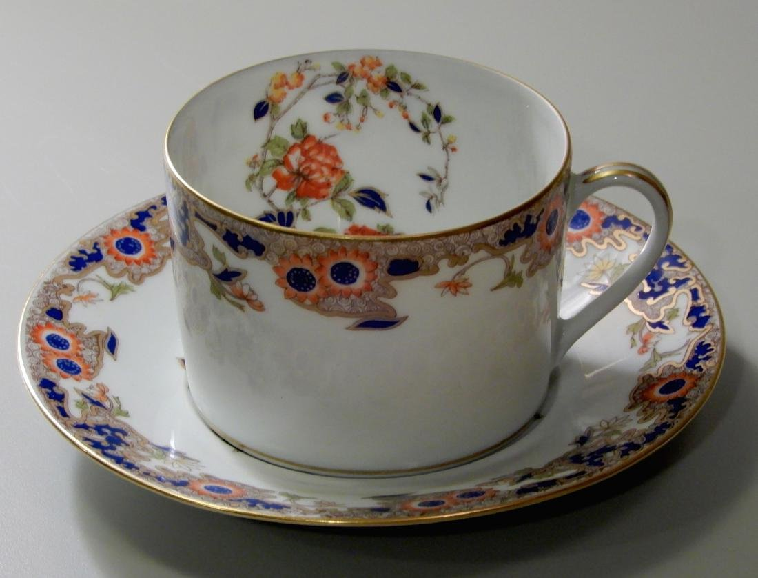 French Limoges B & Co Bernardaud Karaikal Flat Cup and - 2