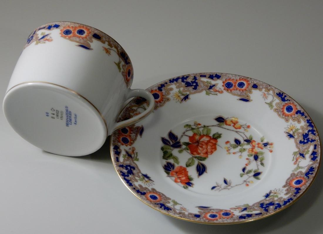 French Limoges B & Co Bernardaud Karaikal Flat Cup and - 3