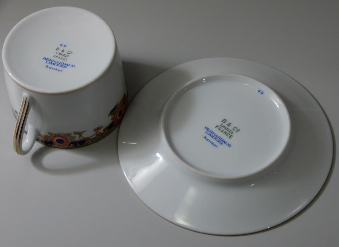 French Limoges B & Co Bernardaud Karaikal Flat Cup and - 5