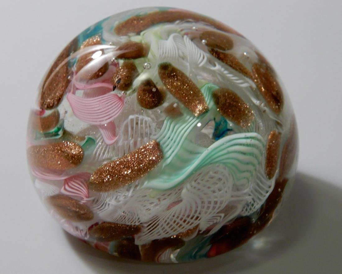 Italian Art Glass Venetian Latticino Aventurine