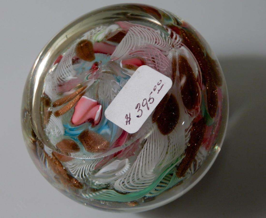 Italian Art Glass Venetian Latticino Aventurine - 5