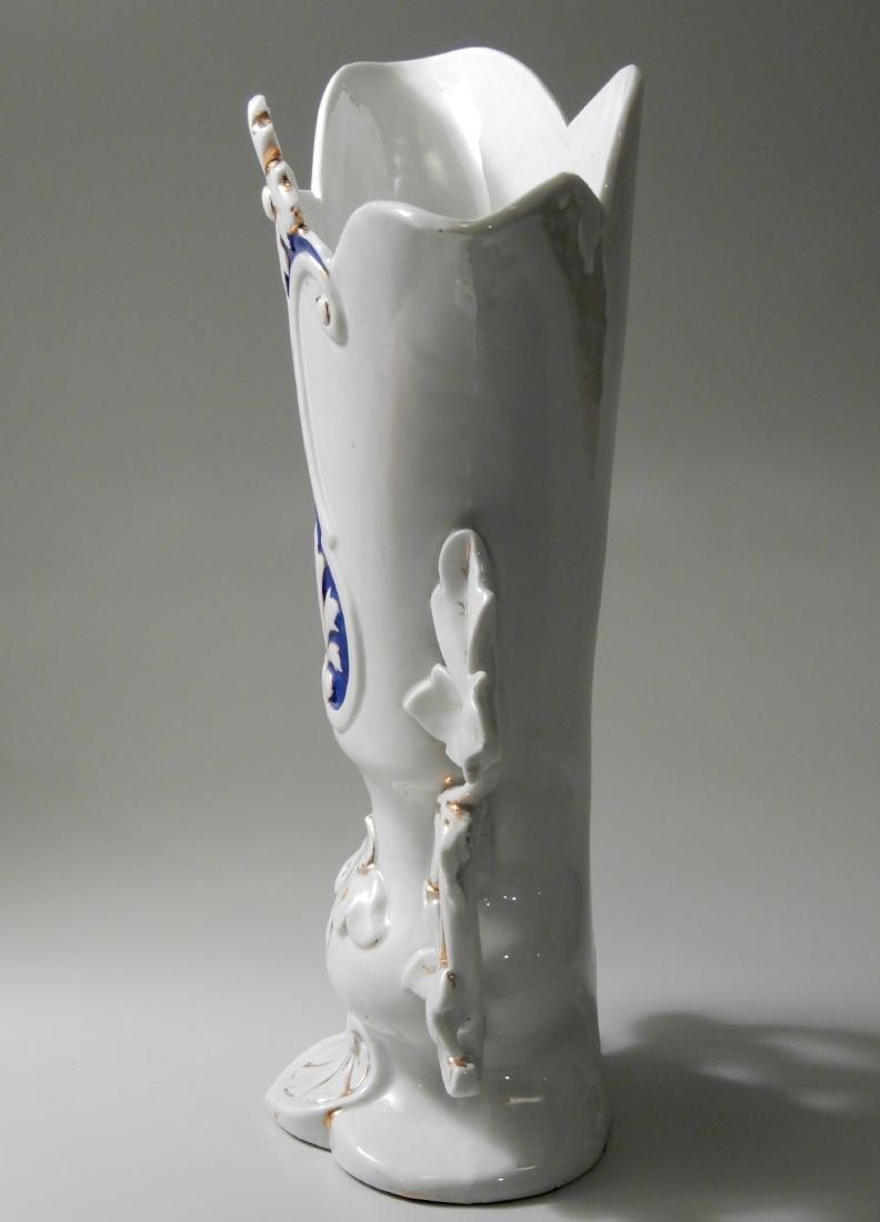 Vieux Paris Mid 19th Century Mantle Garniture Vase Old - 3