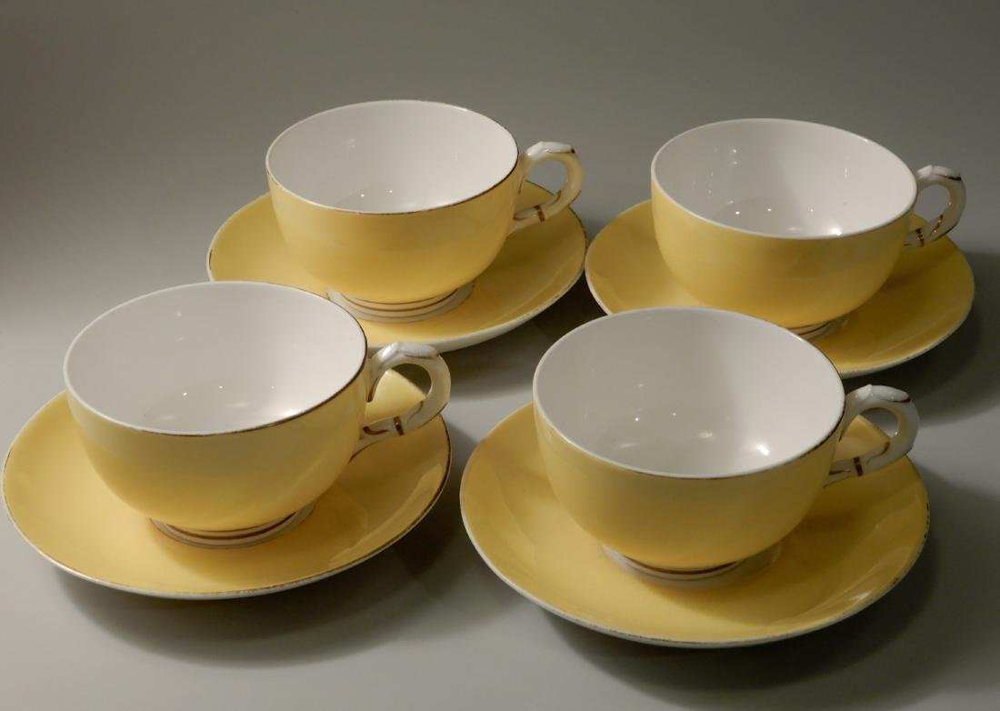 Royal Worchester Yellow English China Tea Cups and