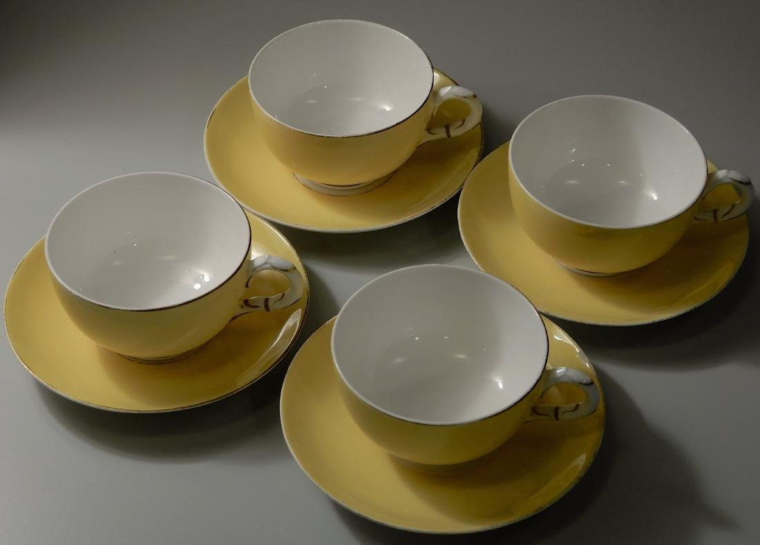 Royal Worchester Yellow English China Tea Cups and - 2