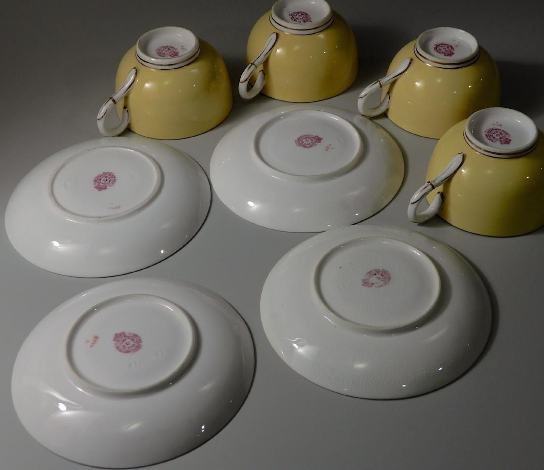 Royal Worchester Yellow English China Tea Cups and - 5