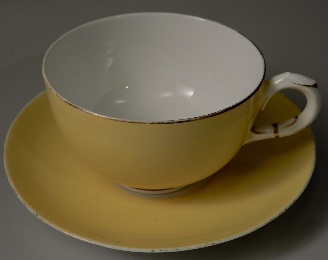 Royal Worchester Yellow English China Tea Cups and - 7
