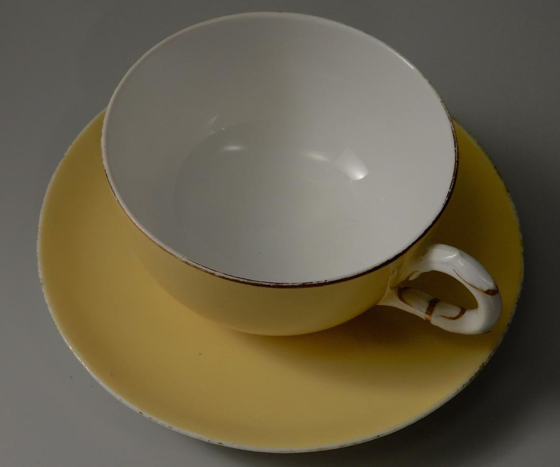 Royal Worchester Yellow English China Tea Cups and - 8