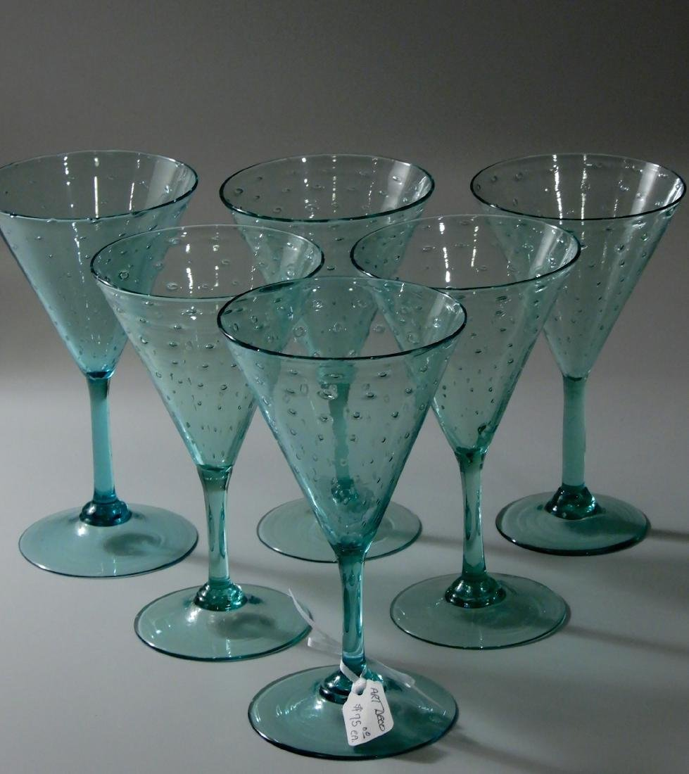 Art Deco Vintage Art Glass Blown Pontil Controlled