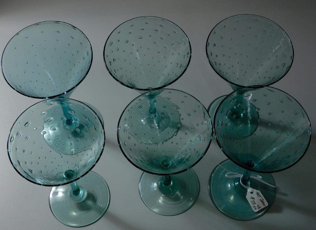 Art Deco Vintage Art Glass Blown Pontil Controlled - 2
