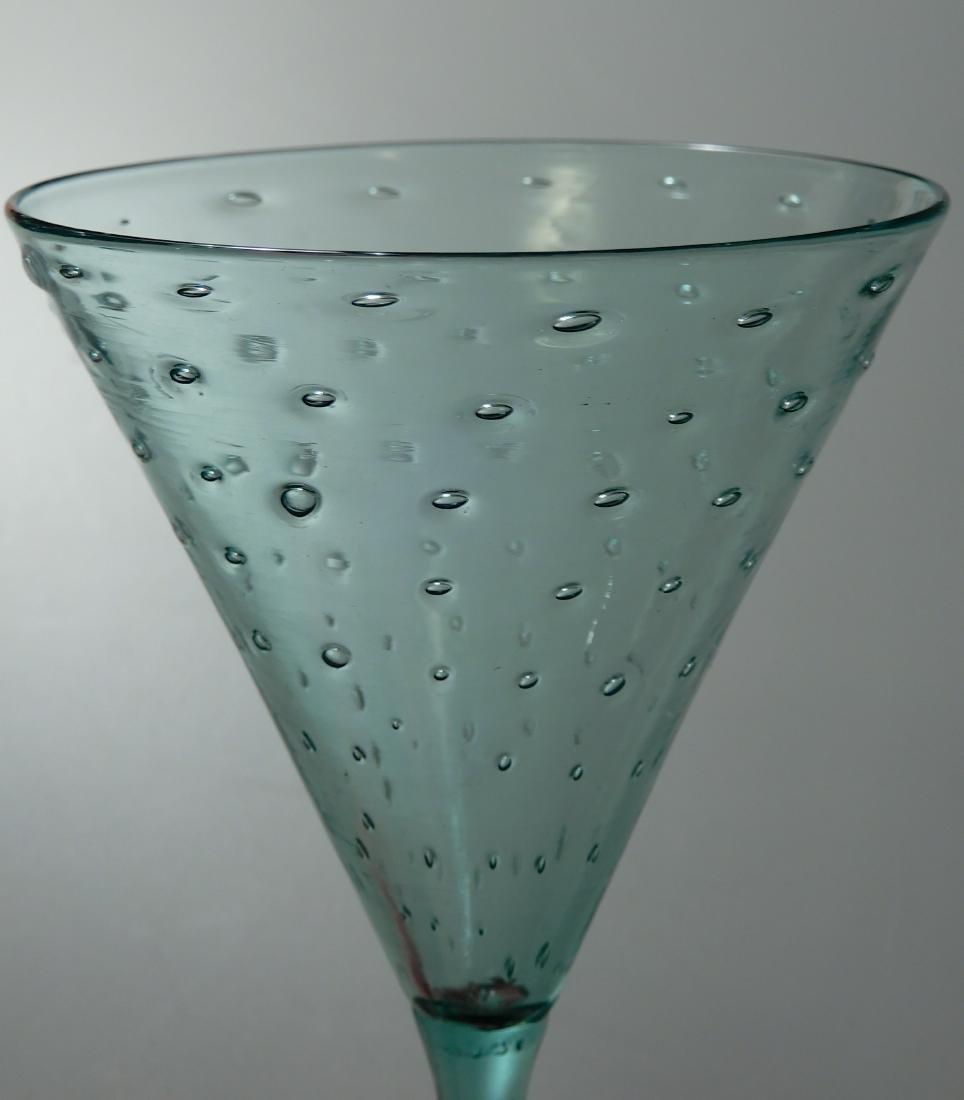 Art Deco Vintage Art Glass Blown Pontil Controlled - 5
