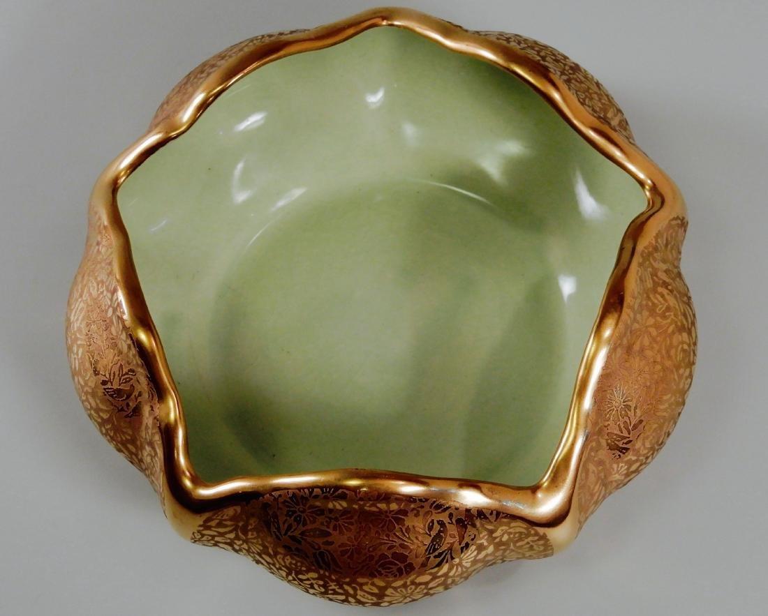 Wheeling Gold China Lotus Bowl Vintage c1920 Dish by - 2