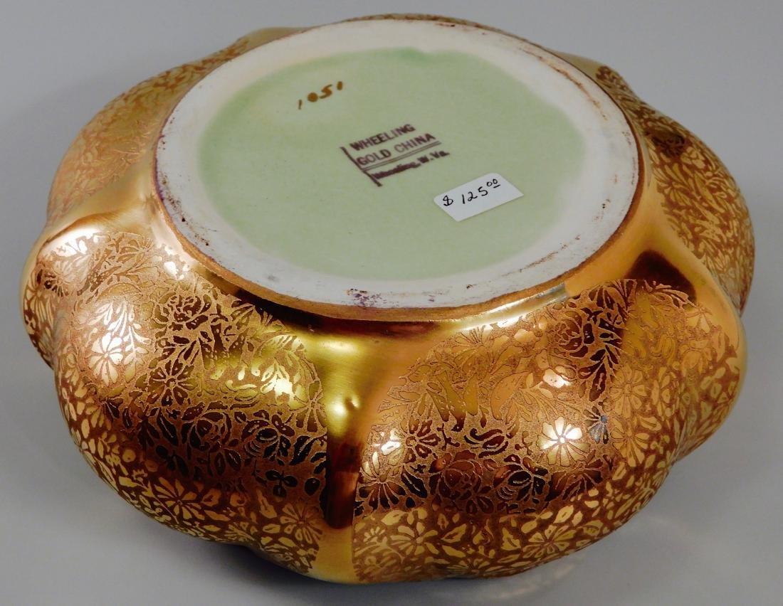 Wheeling Gold China Lotus Bowl Vintage c1920 Dish by - 5