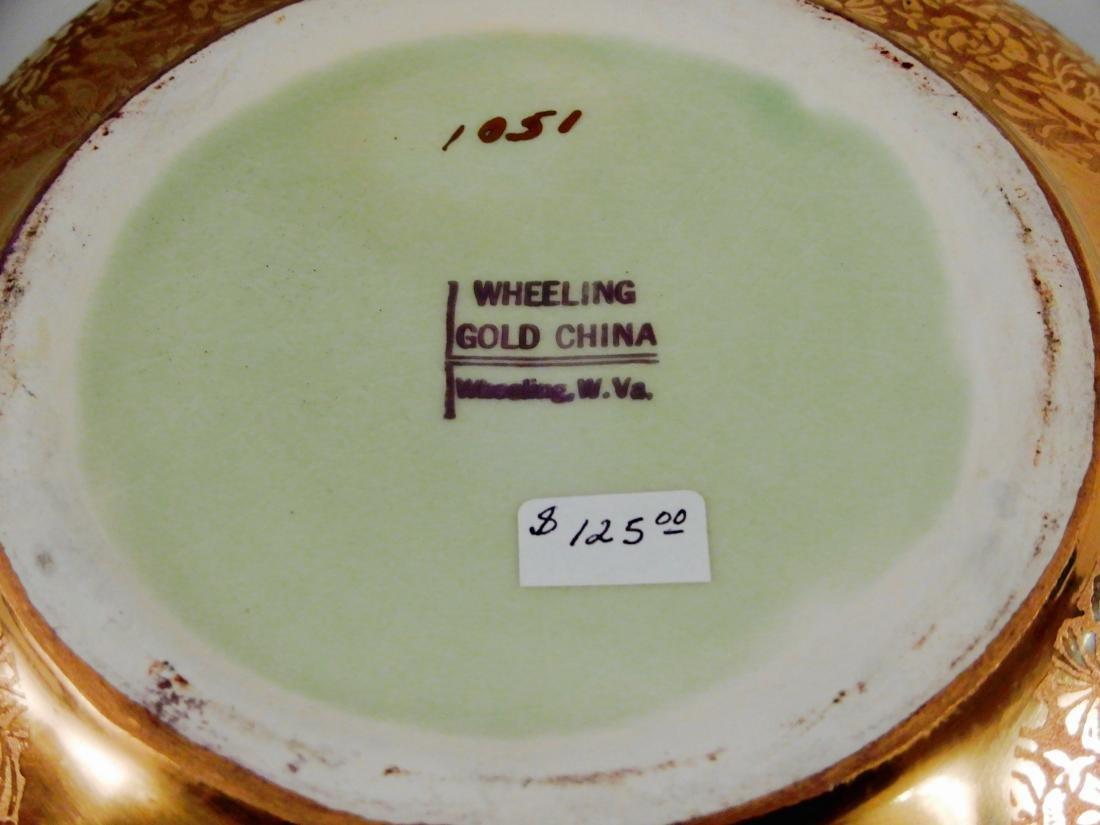 Wheeling Gold China Lotus Bowl Vintage c1920 Dish by - 6
