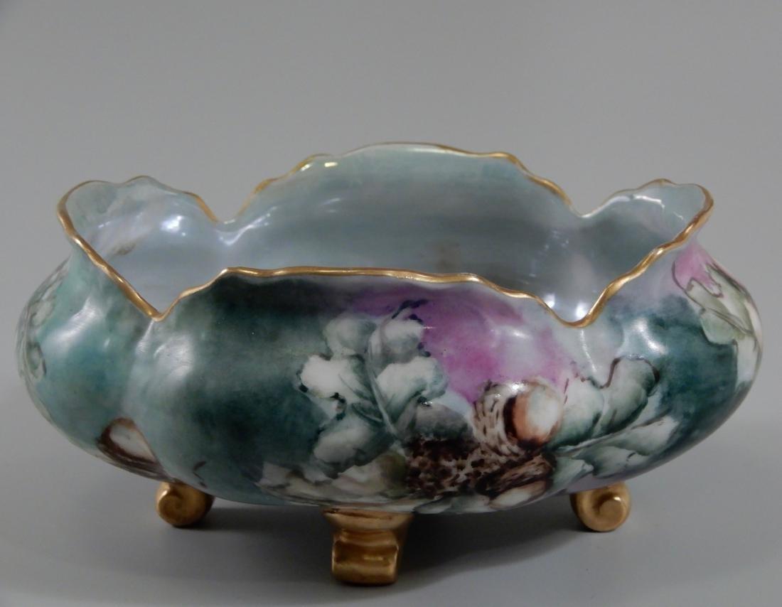 Hohenzollern China Acorn Painted Scalloped Bowl Antique - 4