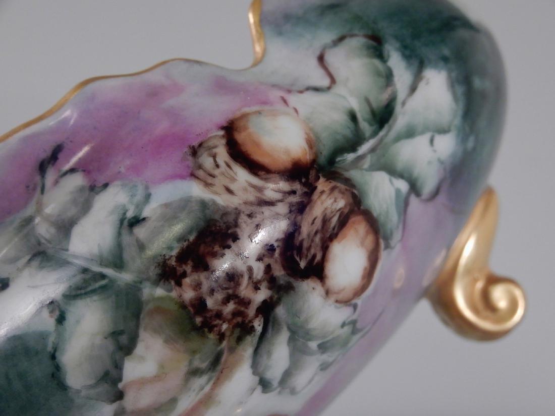 Hohenzollern China Acorn Painted Scalloped Bowl Antique - 5