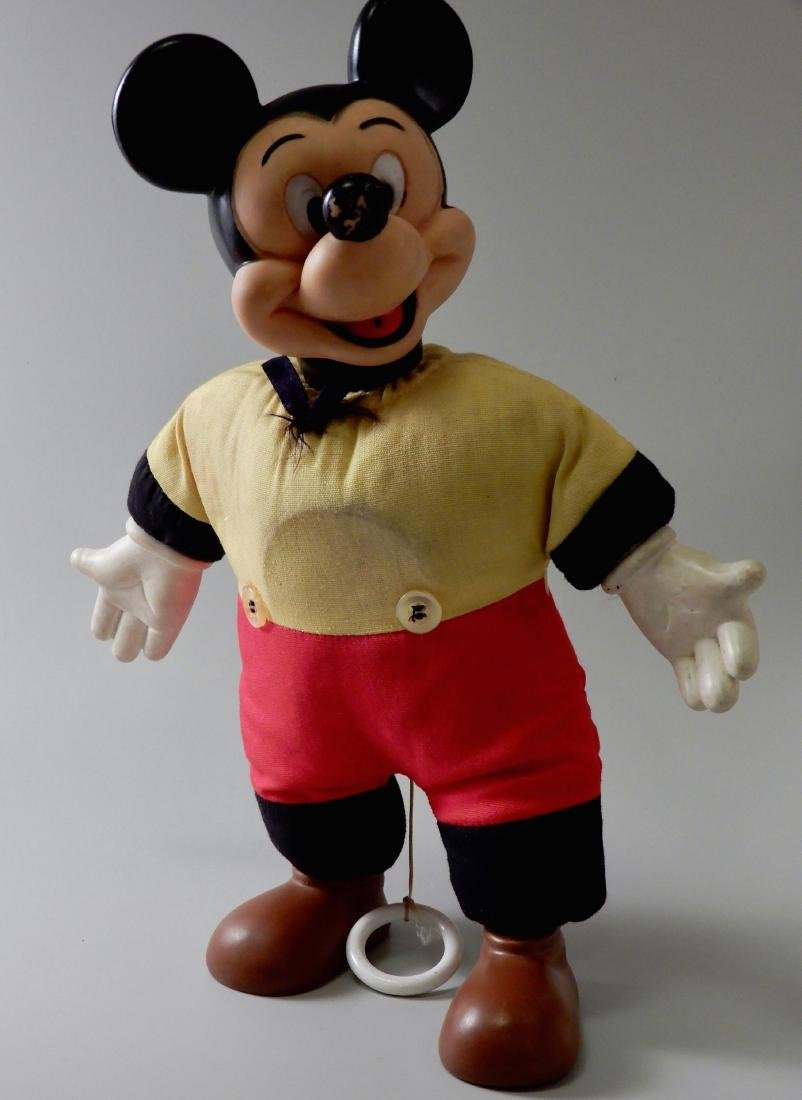 Vintage Mechanical Talking Mickey Mouse Pull String
