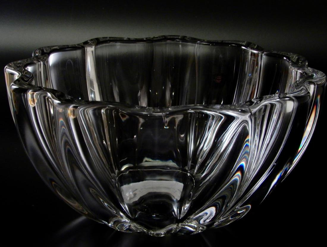 Lobed Melon Crystal Fruit Bowl Baccarat Quality Glass
