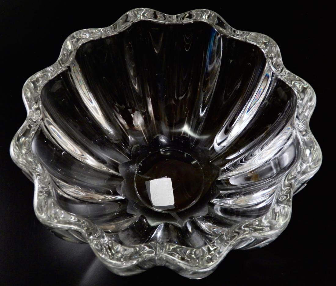 Lobed Melon Crystal Fruit Bowl Baccarat Quality Glass - 3