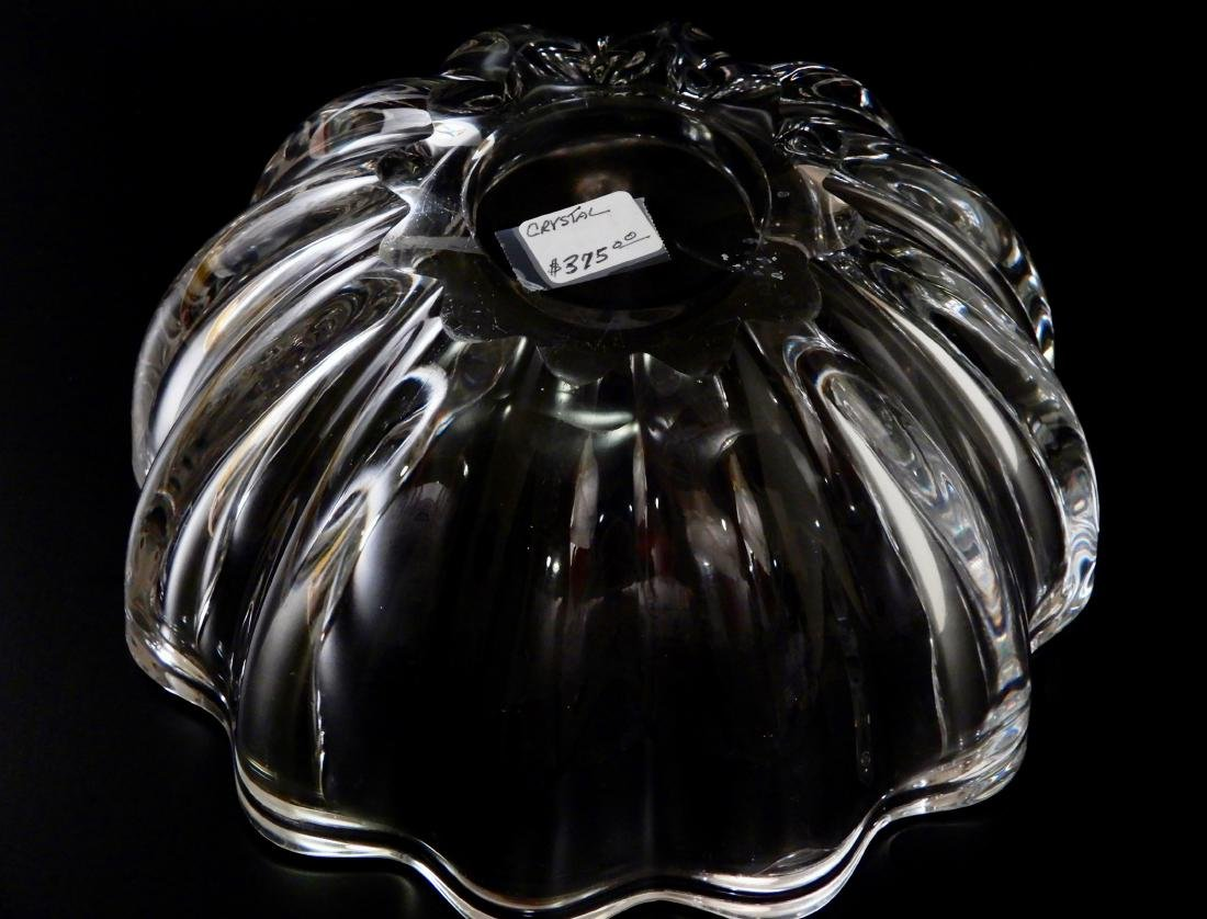 Lobed Melon Crystal Fruit Bowl Baccarat Quality Glass - 6