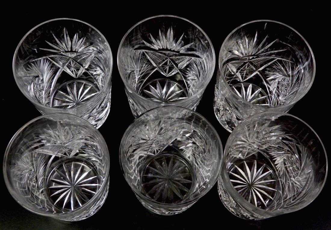 Antique ABP Pinwheel Cut Crystal Glasses Lot of 6 - 3