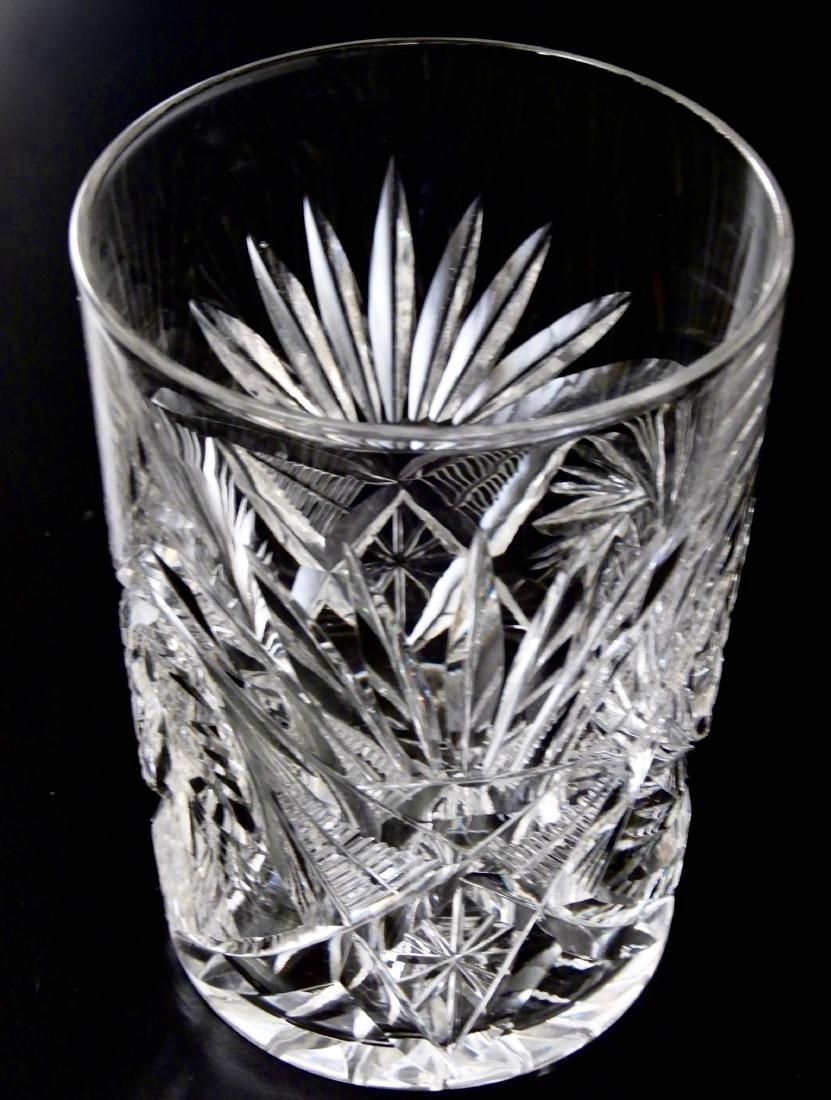 Antique ABP Pinwheel Cut Crystal Glasses Lot of 6 - 7