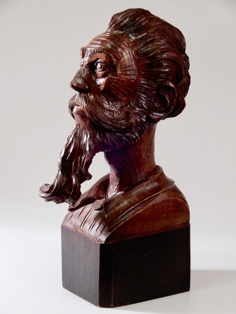 Art Deco Wood Carved Wood Bust Don Quixote of La Mancha - 2