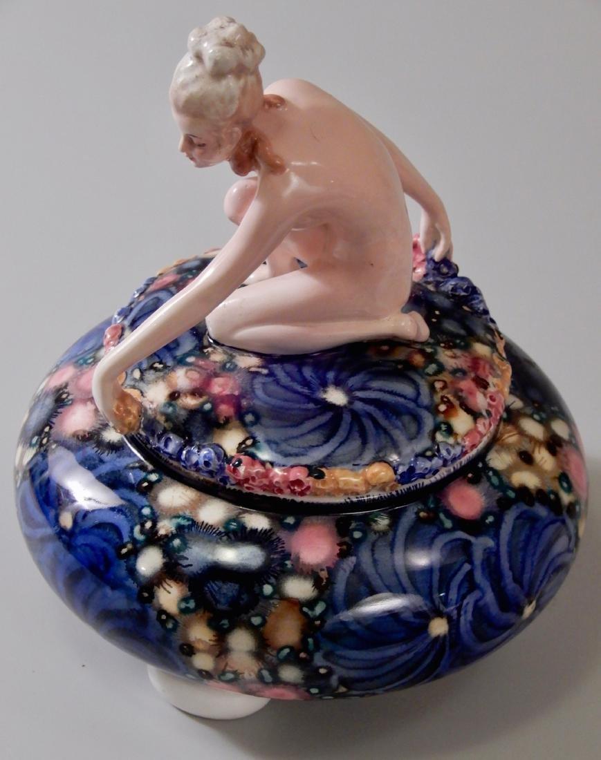 Goldscheider Austrian Art Deco Rare Naked Maiden Vanity - 3