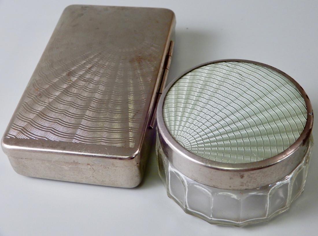 Vintage Vanity Jar and Hinged Box Lot of 2
