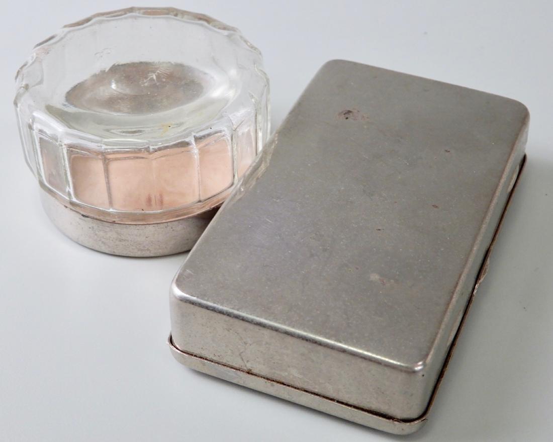 Vintage Vanity Jar and Hinged Box Lot of 2 - 3