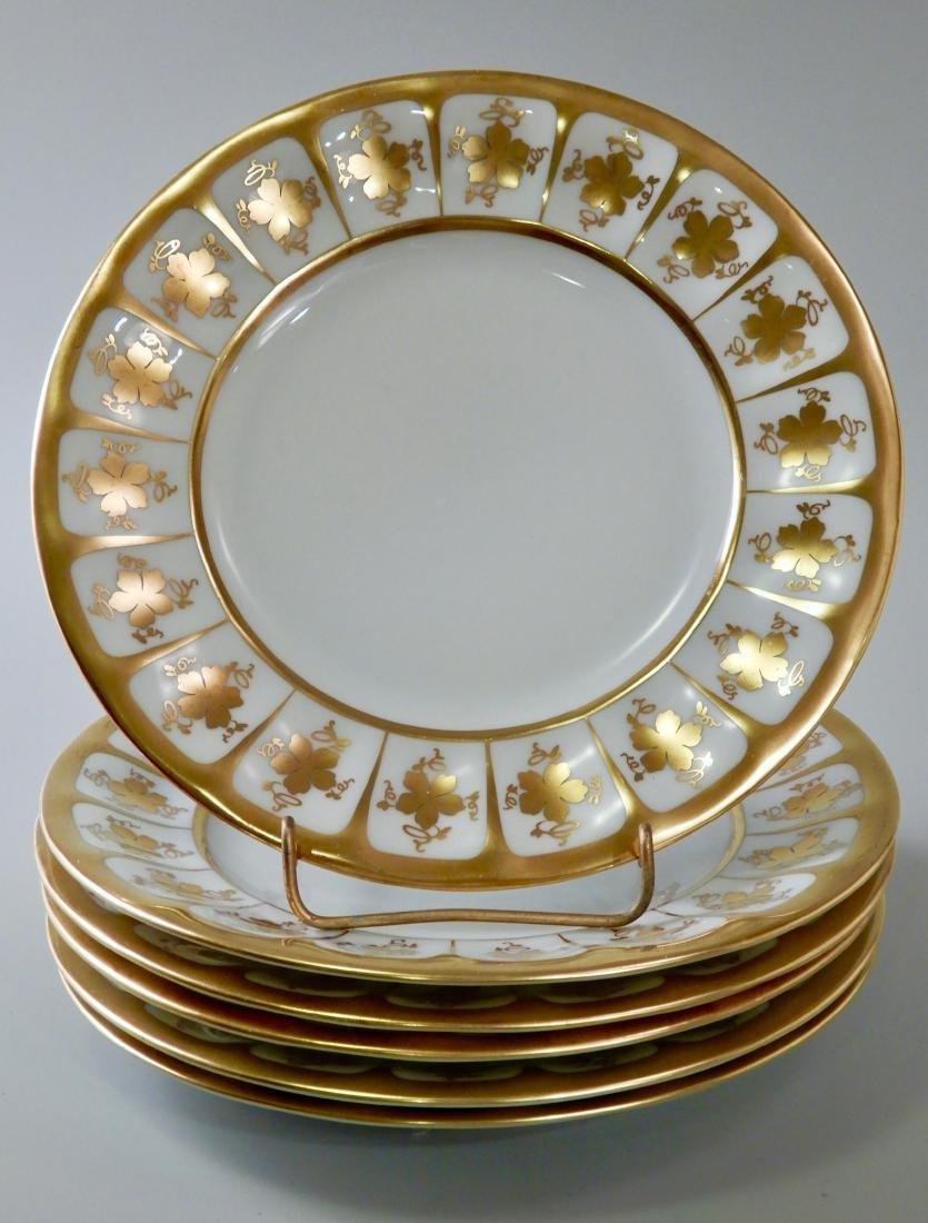 Bellaria White Porcelain Gilded Dessert Cake Plate Lot