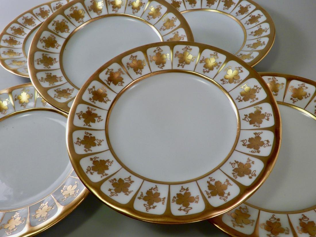 Bellaria White Porcelain Gilded Dessert Cake Plate Lot - 2