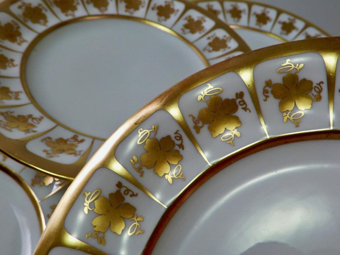 Bellaria White Porcelain Gilded Dessert Cake Plate Lot - 3