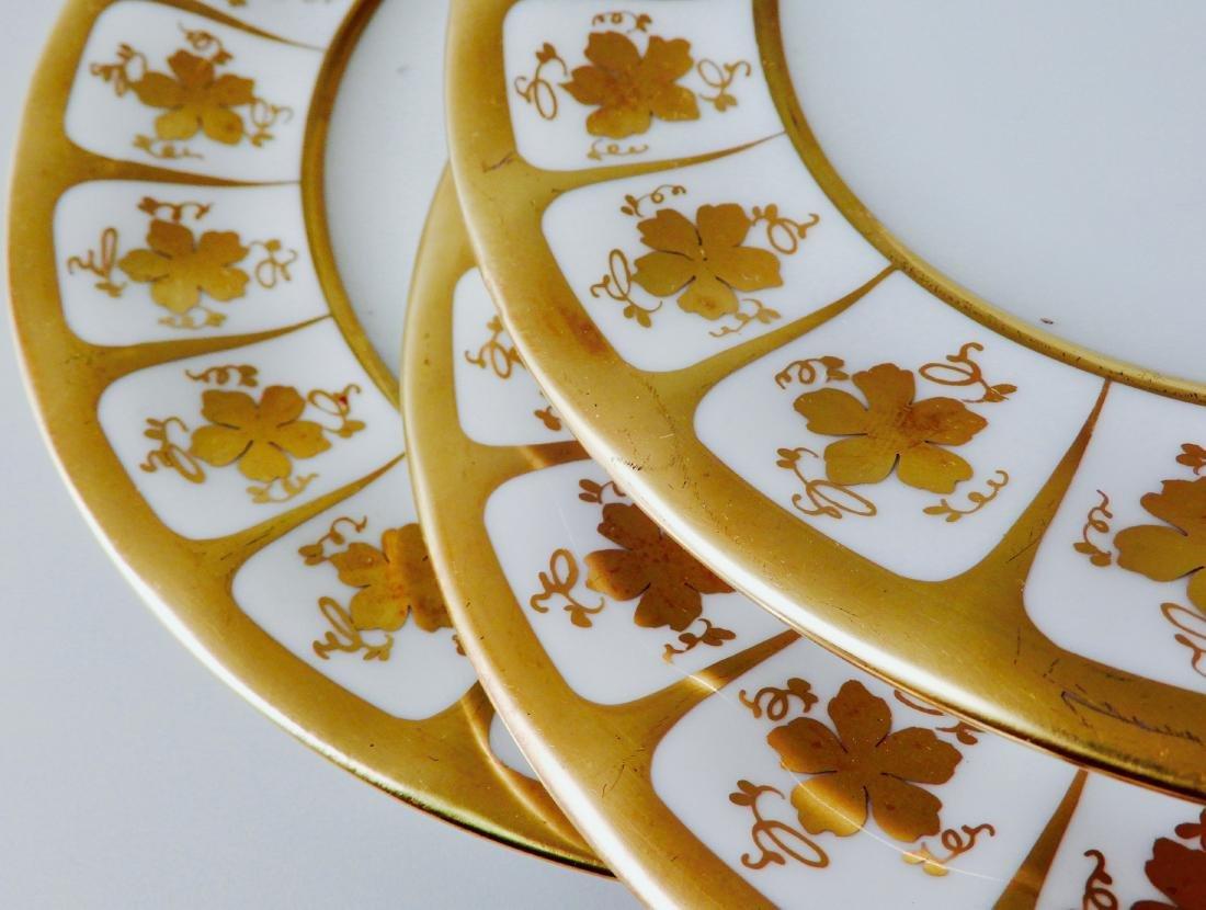 Bellaria White Porcelain Gilded Dessert Cake Plate Lot - 4