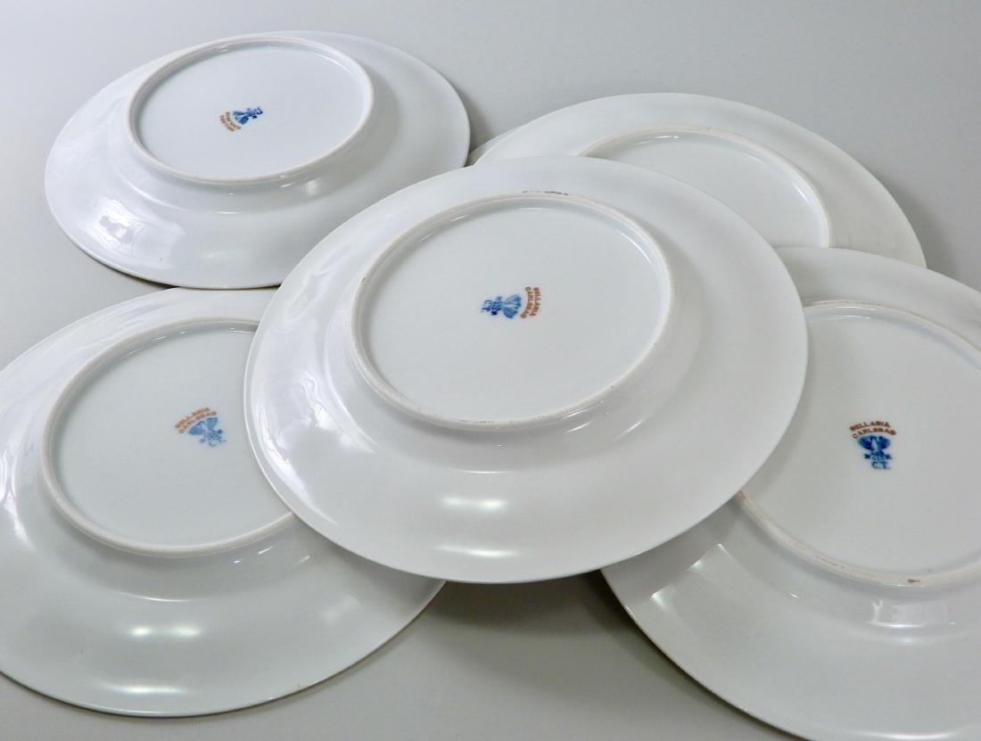 Bellaria White Porcelain Gilded Dessert Cake Plate Lot - 5
